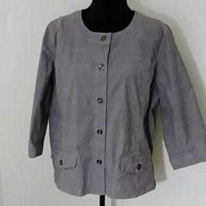 Denim & Company Cotton Jacket Sz XL